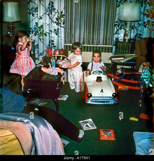 1950's Family Christmas Stock Photos & 1950's Family Christmas ...