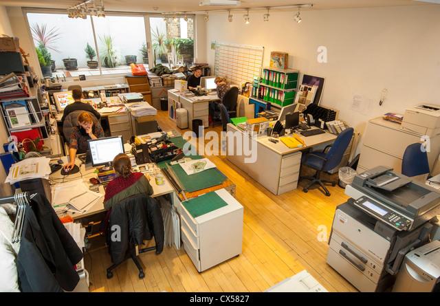 Open Plan Office Interior Computers Stock Photos & Open ...