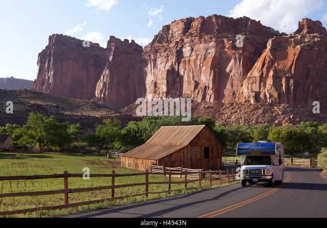 USA Utah Capitol Reef Nationwide Park Fruita Barn Mobile Home