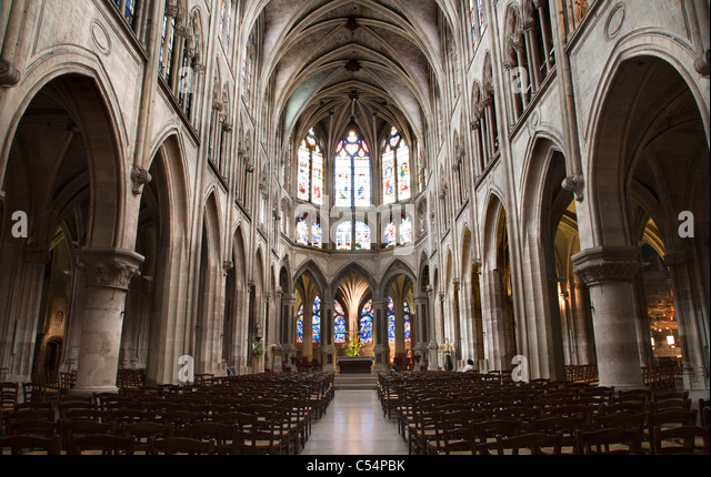 Gothic Church Interior Stock Photos