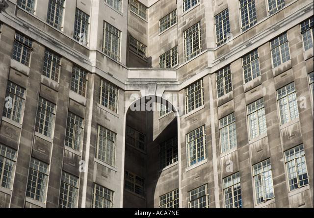 part of art deco office building london transport headquarters st jamess park london art deco office