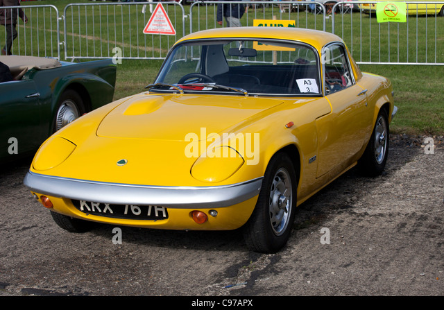 lotus elan coupe s4 1970 stock image