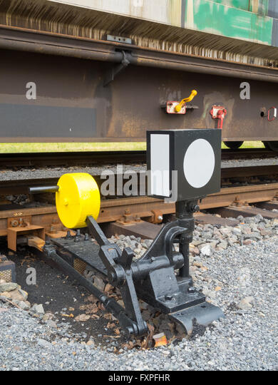 Lever Train Track : Railroad switch stock photos