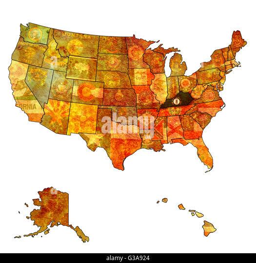 Kentucky State Map Stock Photos  Kentucky State Map Stock Images