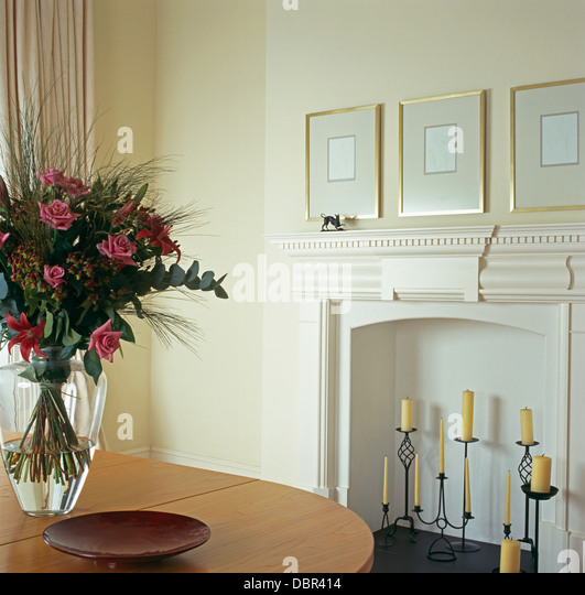 Tall table vase stock photos tall table vase stock for Tall glass dining table