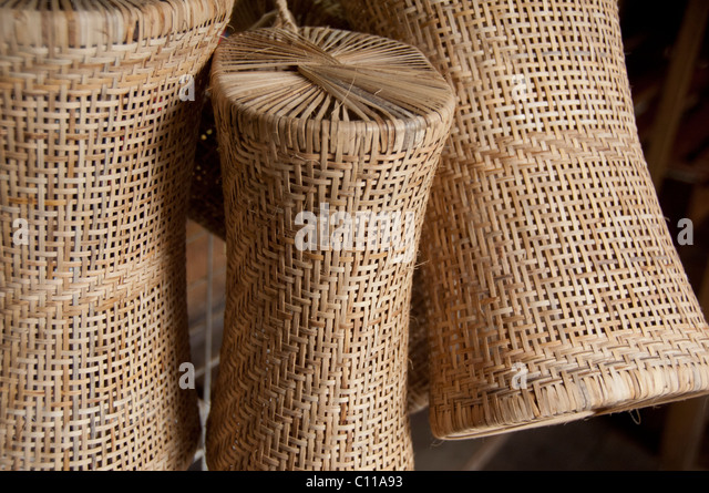 Rattan baskets stock photos rattan baskets stock images for Furniture yangon