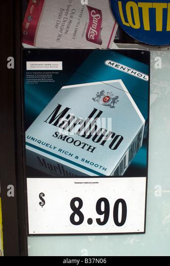 Cigarettes Marlboro at New Mexico airport