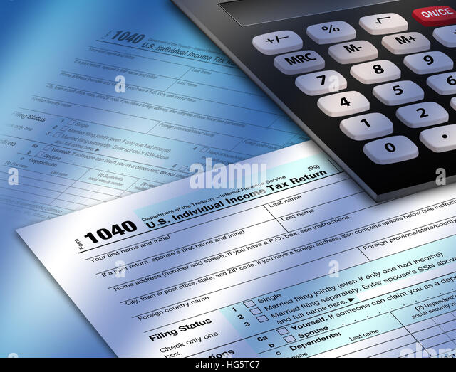Tax form 1040 stock photos tax form 1040 stock images for 1040 tax table calculator