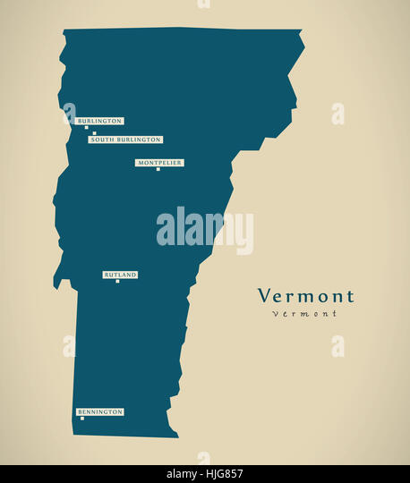 Vermont State Map Stock Photos Vermont State Map Stock Images - Usa map vermont