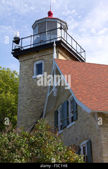 1868 Eagle Bluff Lighthouse Door County WI - Stock Image & Lighthouse Door Stock Photos \u0026 Lighthouse Door Stock Images - Alamy Pezcame.Com
