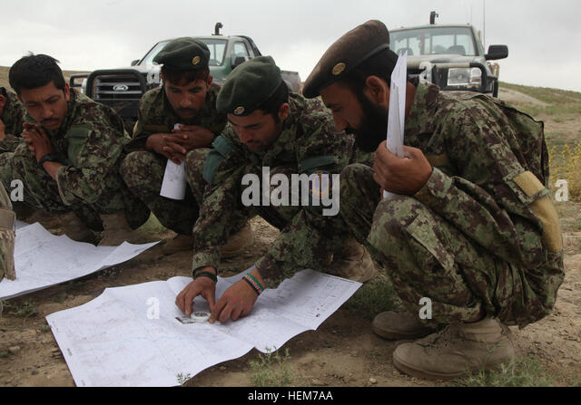 Map Afghanistan Stock Photos Map Afghanistan Stock Images Page - Us army map reading