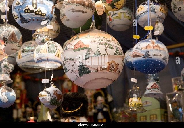 Christmas Baubles Germany : Marienplace stock photos images alamy