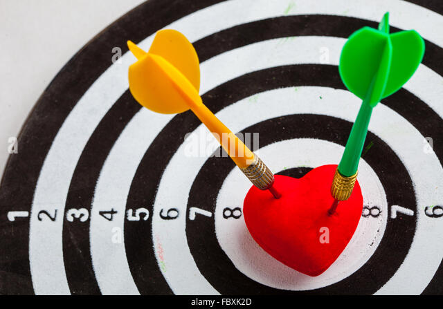 Symbol bullseye stock photos symbol bullseye stock images alamy black white target with two darts in heart love symbol as bullseye stock image thecheapjerseys Gallery