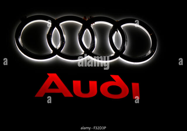 Car Audi Logo Stock Photos Car Audi Logo Stock Images Alamy - Audi car sign