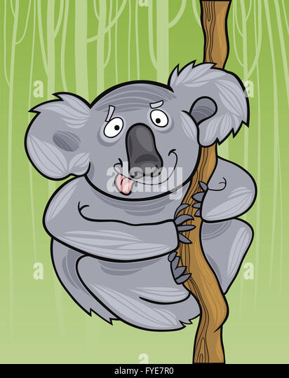 how to draw a koala bear cartoon