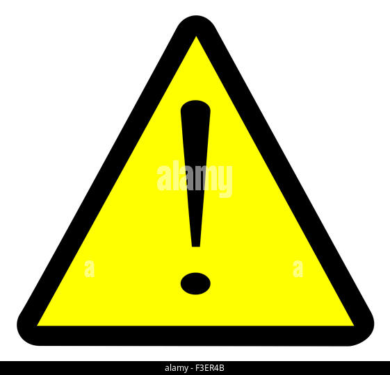 Yellow Black Sign Warning Triangle Stock Photos & Yellow ...