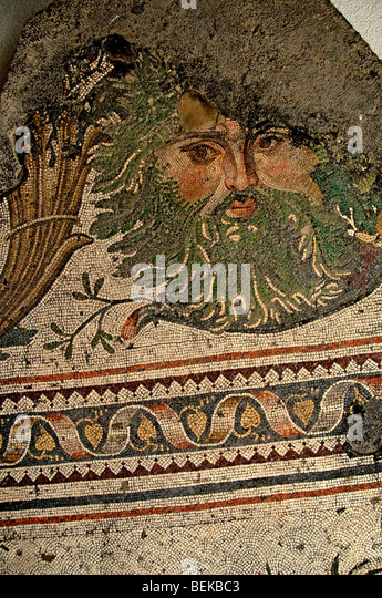 Roman goddess mosaic stock photos roman goddess mosaic for Amida house istanbul