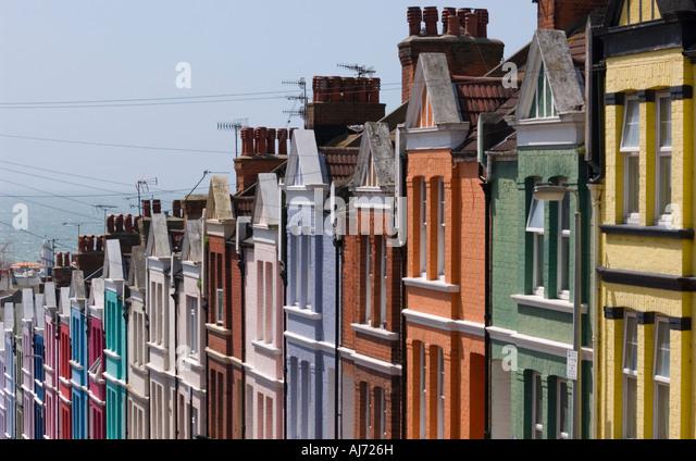 Coloured houses uk brighton stock photos coloured houses for Brighton house