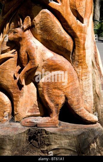 Kangaroo sculpture stock photos