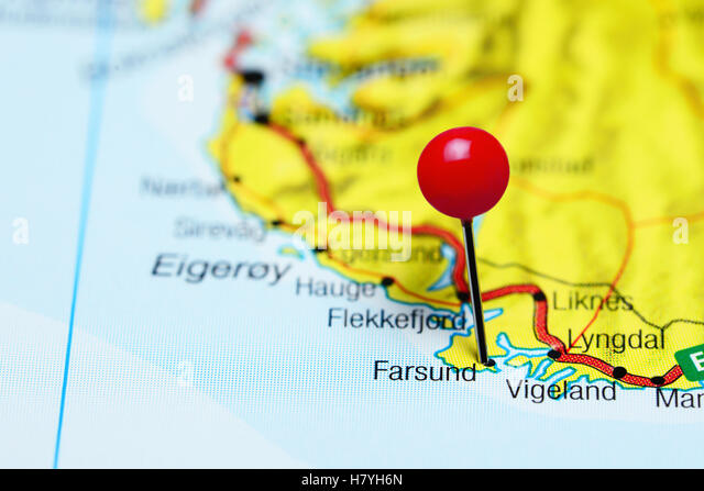 Map Of Farsund Stock Photos Map Of Farsund Stock Images Alamy
