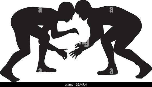 Greek wrestling clipart