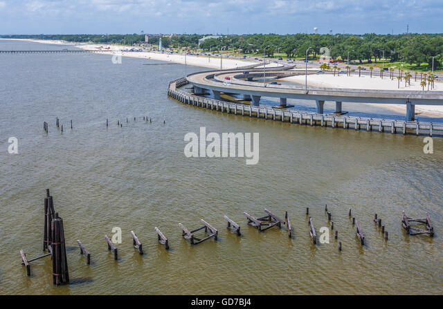 Mississippi sound stock photos mississippi sound stock for Fishing piers in biloxi ms