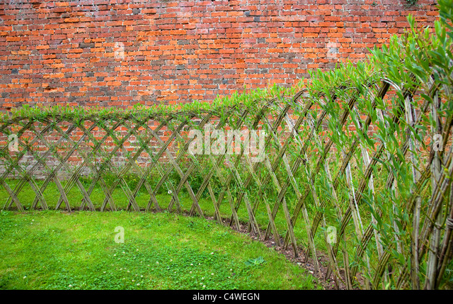 Willow Fencing Panels Stock Photos Willow Fencing Panels Stock