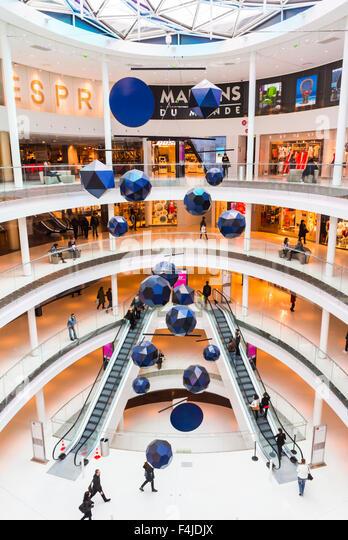 shopping centre interior aerial view stock photos. Black Bedroom Furniture Sets. Home Design Ideas