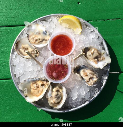 how to eat oysters on the half shell