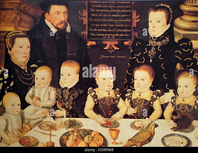 Tudor Family Portrait Stock Photos & Tudor Family Portrait Stock ...