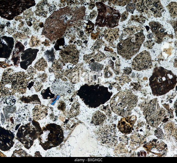 Volcanic Ash from the Eyjafjallajökull volcano, microscope view in ...
