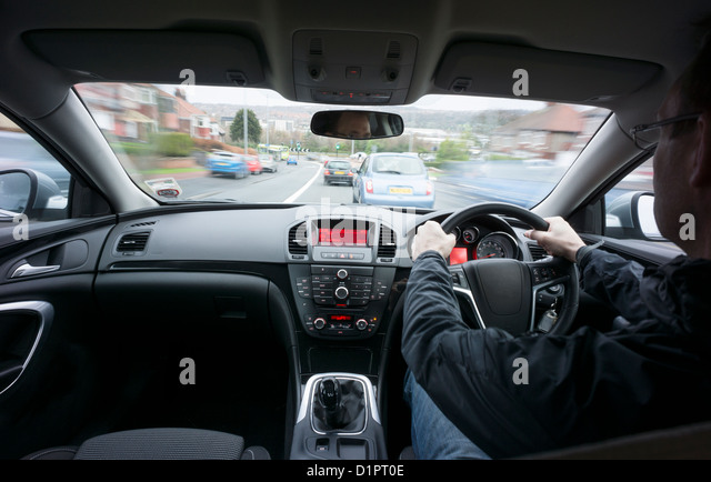 Driver Driving Windscreen View Stock Photos & Driver ...