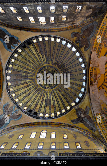 Interior View Dome Pendentives Hagia Sophia Ayasofya Unesco World Heritage Site