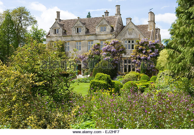 Barnsley House Gardens, Glos., UK. Former Garden Of Rosemary Verey   Stock
