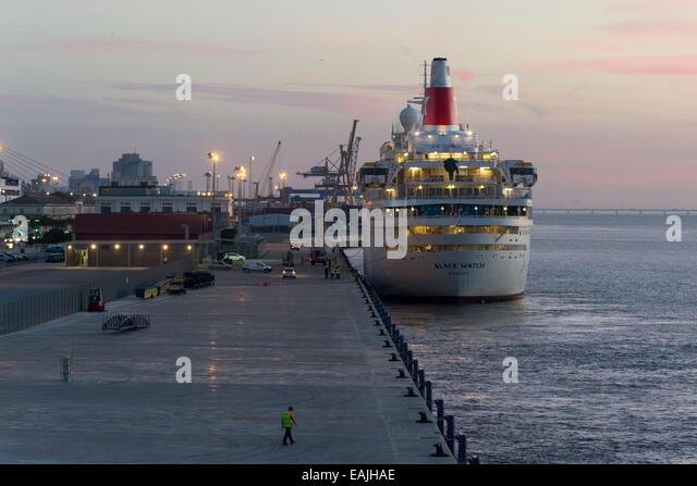 The Port Of Lisbon Stock Photos The Port Of Lisbon Stock Images - Lisbon cruise ship port
