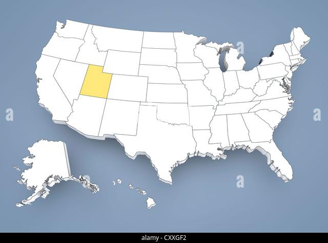 Utah State Map Stock Photos Utah State Map Stock Images Alamy - Utah us map
