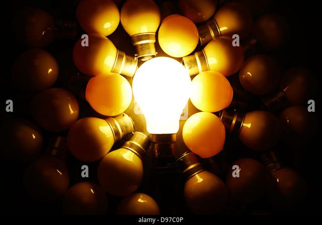 Full Frame Of Illuminated Light Bulb Stock Photos Full Frame Of Illuminated Light Bulb Stock