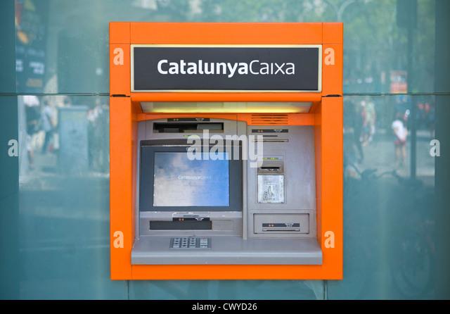 Spain and cash machine stock photos spain and cash for Oficina caixa catalunya barcelona