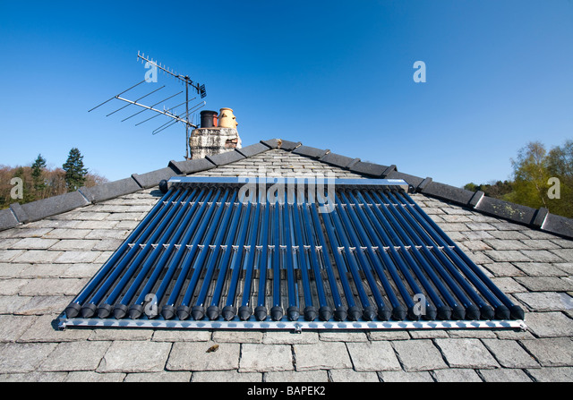 Solar Water Heater On Roof Stock Photos Amp Solar Water