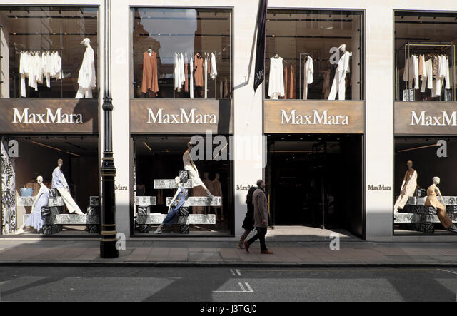 Exterior View Of Mannequins In The Window MaxMara Old Bond Street Store London W1