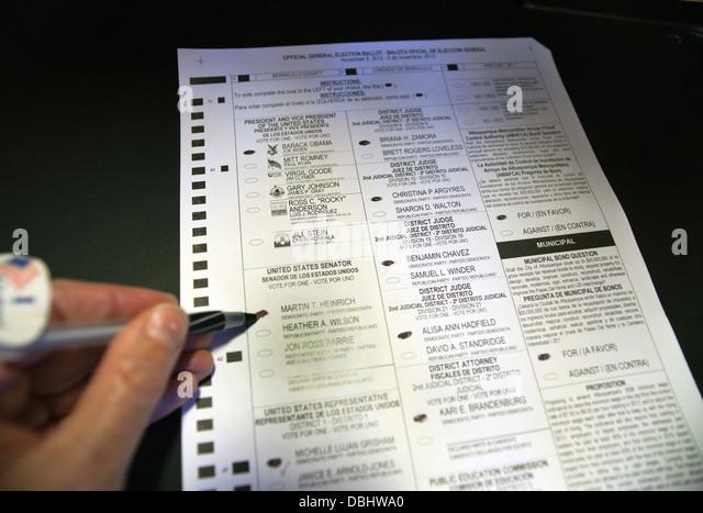 Virginia Beach Voter Ballot