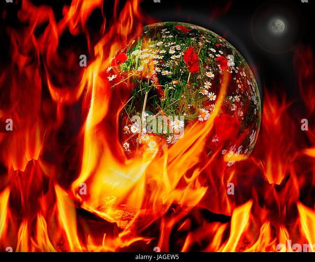 DIGITAL CONCEPT: The Destruction of a Planet - Stock Image