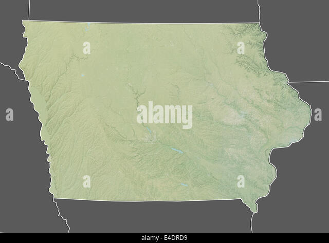 Iowa State Map Stock Photos Iowa State Map Stock Images Alamy - United states map iowa