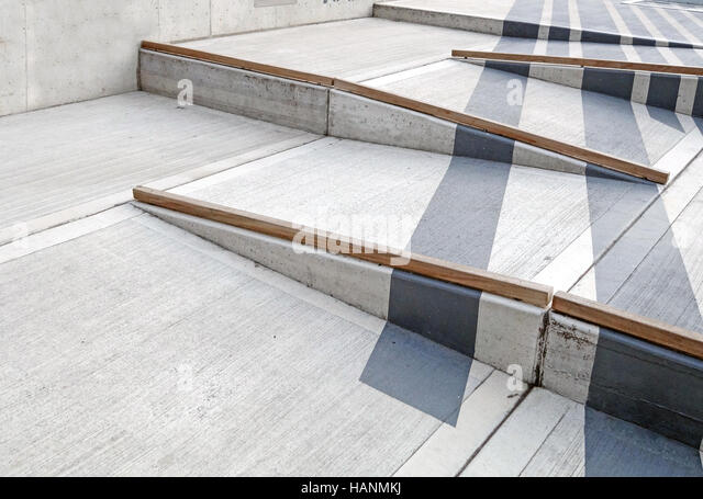 Wheelchair Ramp With Red Carpet For Easy Access In Building   Stock Image