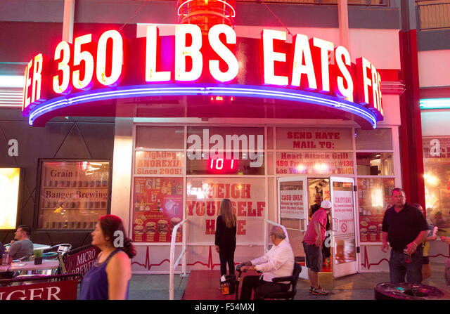 Heart Attack Grill, A Restaurant Catering To Diners Who Enjoy Red Meat And  Large Food