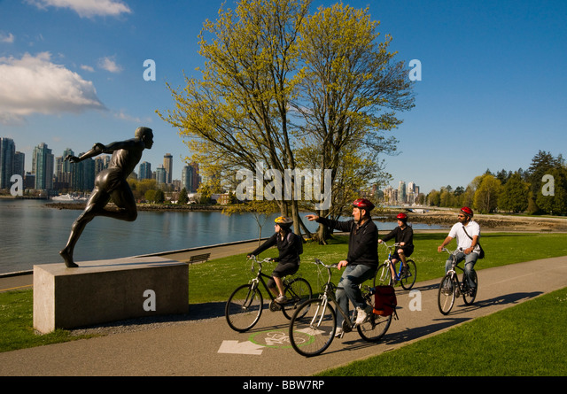 Stanley Park Bike Trail Stock Photos Stanley Park Bike Trail