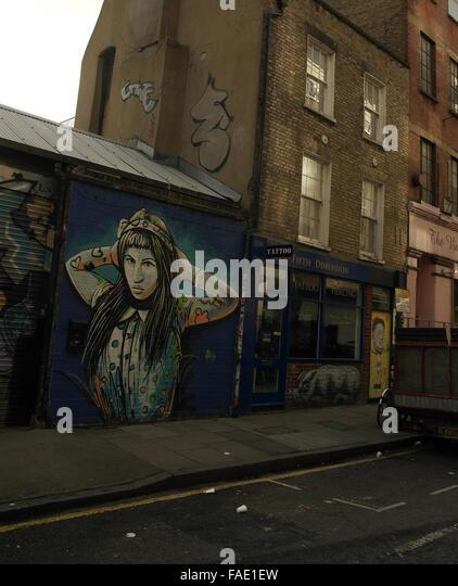 London street art roa stock photos london street art roa for Tattoo shop hackney road