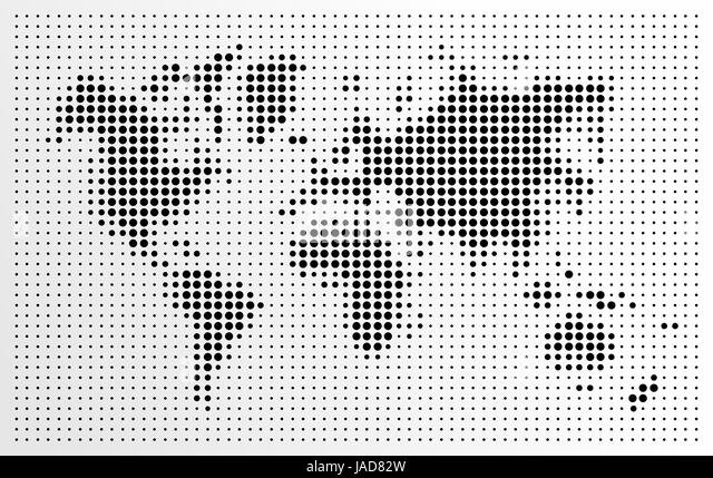 World map dots black and white stock photos images alamy world map black dots atlas composition eps10 vector file organized in layers for easy publicscrutiny Gallery