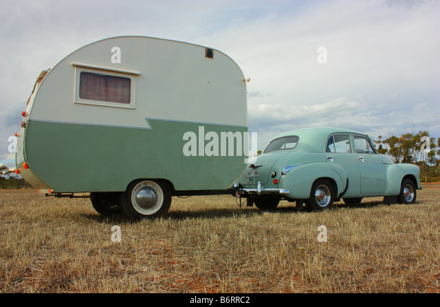 Car Towing Caravan Stock Photos Amp Car Towing Caravan Stock