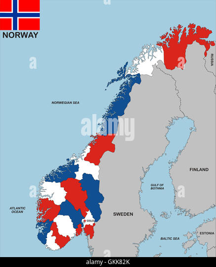 Norway Map Stock Photos Norway Map Stock Images Alamy - Norway map picture